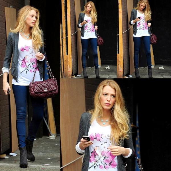 Blake à la sortie d'un studio dans lequel elle a effectué un photoshoot, le 15 octobre   Trop bien habillée