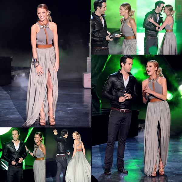 Lors de la cérémonie, elle a remis un award à l'acteur Ryan Reynold pour sa prestation dans le film 'Green Lantern'
