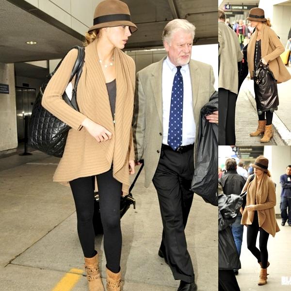 Blake arrivant à LAX, le 15 Octobre