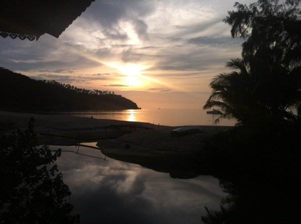 coucher de soleil thaïlandais