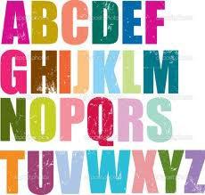 Alphabet fictions.