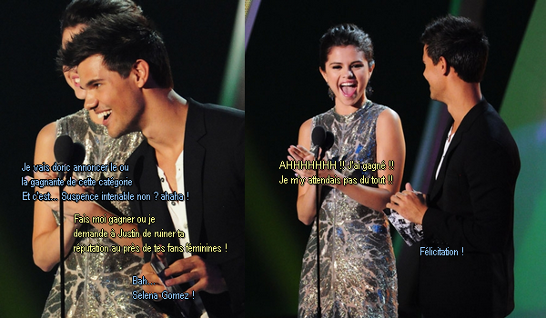 Selena triche aux MTV Awards !    WHAT-IF-I-AM-ALONE.SKYROCK.COM