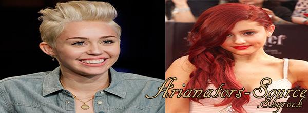 ✈ Miley Cyrus et Ariana les nouvelles meilleures amies ?