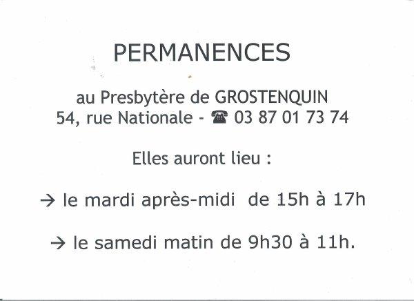 Permanences 2014