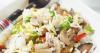 Salade de riz aux champignons et aux légumes de printemps