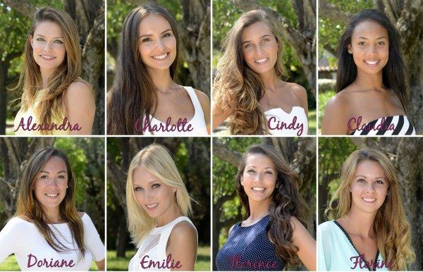 Candidates à l'élection de Miss Côte d'Azur
