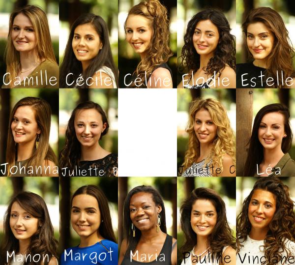 Les candidates à l'élection de Miss Auvergne