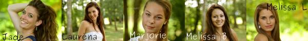 Les candidates à l'élection de Miss Bourgogne