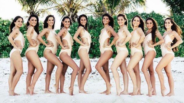 Les candidates à l'élection de Miss Tahiti