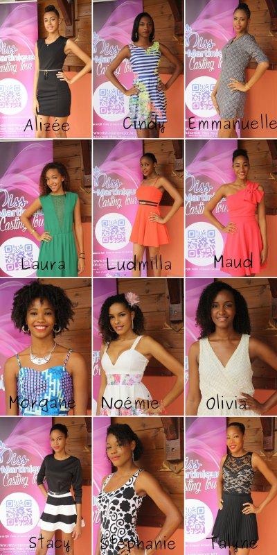 Les candidates à l'élection de Miss Martinique