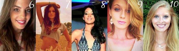 Les candidates à la demie finale de Miss Languedoc