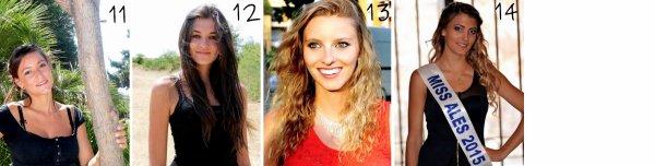 Les candidates à l'élection de Miss Languedoc