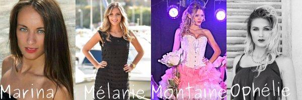 Les candidates à l'élection de Miss Provence