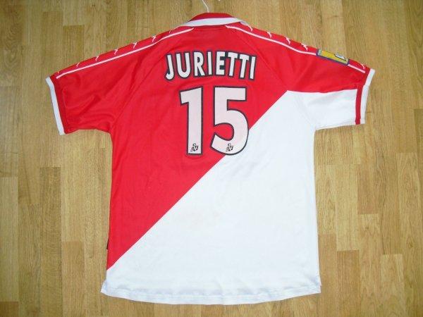 Maillot domicile saison 2000-2001 floqué JURIETTI (de dos)