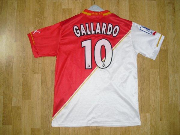 Maillot domicile saison 2001-2002 floqué GALLARDO (de dos)