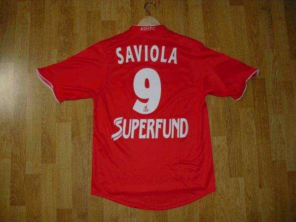 Maillot extérieur saison 2004-2005 floqué SAVIOLA (de dos)