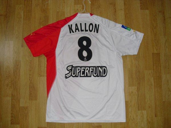 Maillot domicile saison 2004-2005 floqué KALLON (de dos)