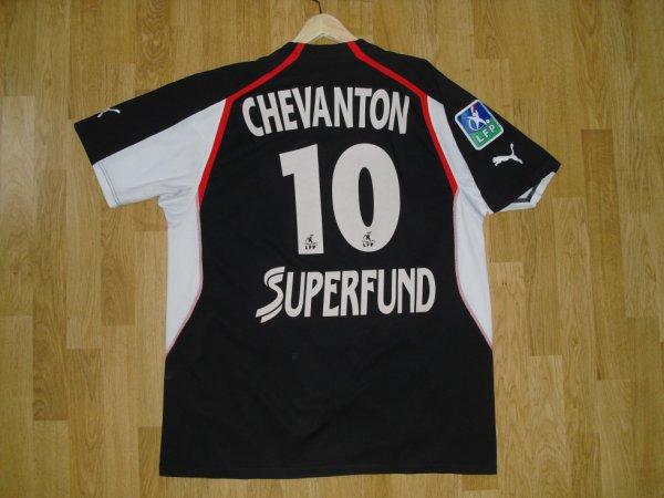 Maillot third saison 2004-2005 floqué CHEVANTON (de dos)