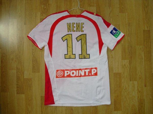 Maillot domicile saison 2007-2008 floqué NENE (de dos)