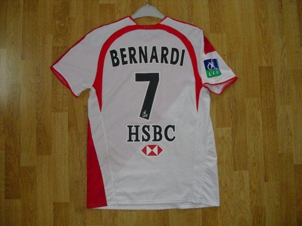 Maillot domicile saison 2006-2007 floqué BERNARDI (de dos)