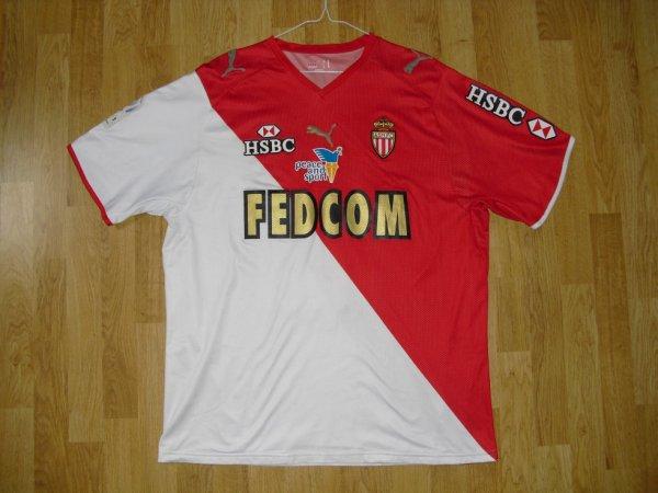 Maillot domicile saison 2007-2008 floqué PINO (de face)