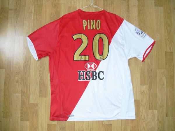 Maillot domicile saison 2007-2008 floqué PINO (de dos)