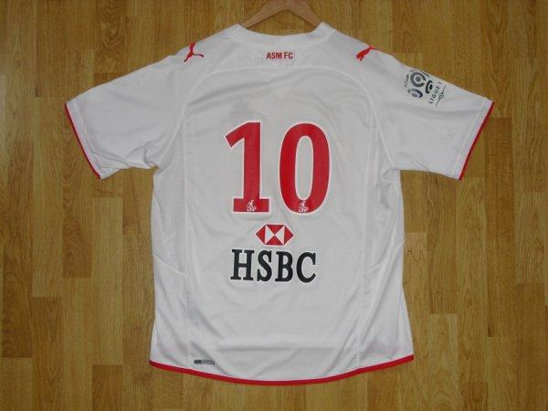 Maillot extérieur saison 2009-2010 floqué 10 (PARK) (de dos)