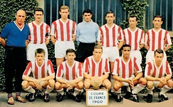 """Maillot domicile commémoratif """"50 ans"""" coupe de France 1960"""