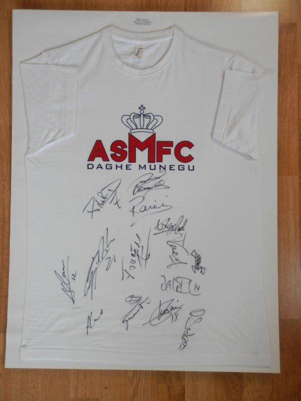 Maillot dédicacé le vendredi 31 août 2012 (Le Havre-AS Monaco) par toute l'équipe