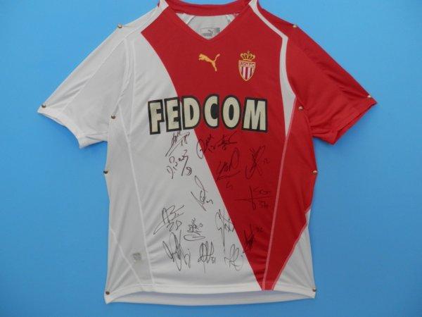 Maillot dédicacé le 22 janvier 2006 (RC Lens - AS Monaco)