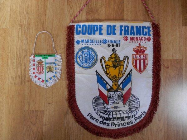 Fanions de la 1/2 finale et de la finale de la Coupe de France  1991