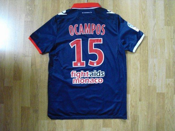 Maillot extérieur saison 2012-2013 floqué OCAMPOS (de dos)
