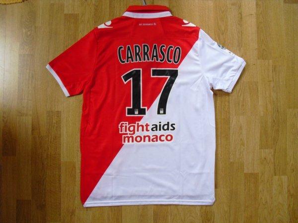 Maillot domicile saison 2012-2013 floqué CARRASCO (de dos)