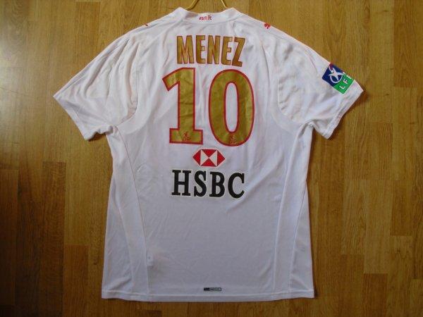 Maillot extérieur saison 2007-2008 floqué MENEZ (de dos)