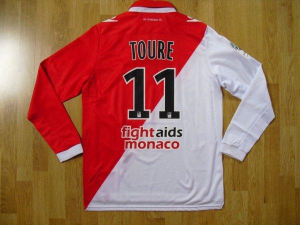 Maillot domicile saison 2012-2013 floqué TOURE (de dos)