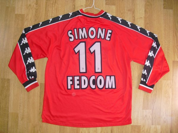 Maillot third saison 1999-2000 floqué SIMONE (de dos)