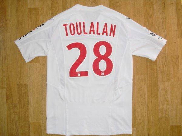 Maillot third saison 2013-2014 floqué TOULALAN (de dos)