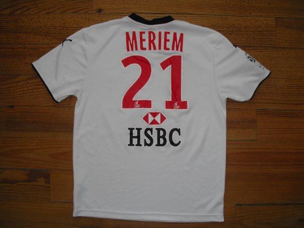 Maillot third saison 2008-2009 floqué MERIEM (de dos)