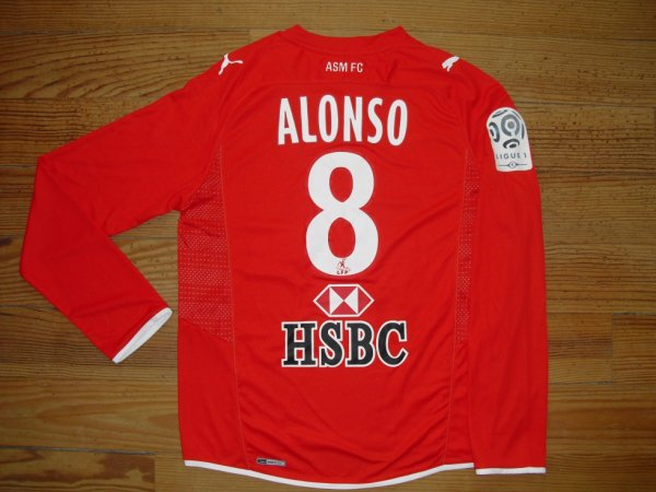 Maillot third saison 2009-2010 floqué ALONSO (de dos)
