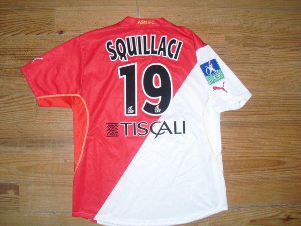 Maillot domicile saison 2002-2003 floqué SQUILLACI (de dos)