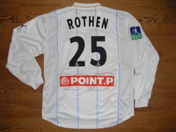 Maillot extérieur saison 2002-2003 floqué ROTHEN (de dos)