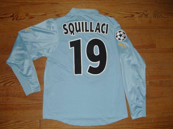 "Maillot ""4"" saison 2003-2004 floqué SQUILLACI (de dos)"