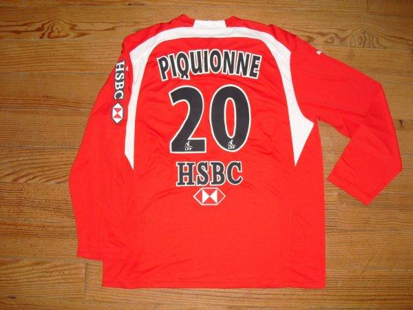 """Maillot """"4"""" saison 2006-2007 floqué PIQUIONNE (de dos)"""
