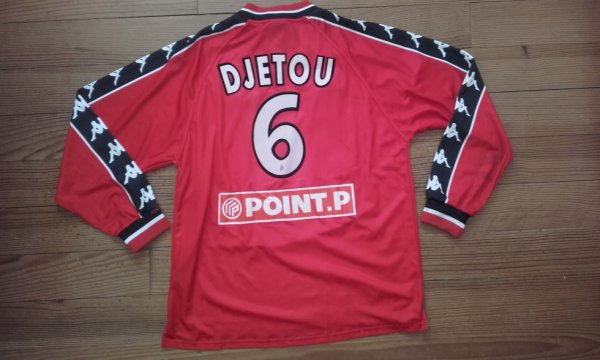 Maillot third saison 1999-2000 floqué DJETOU (de dos)