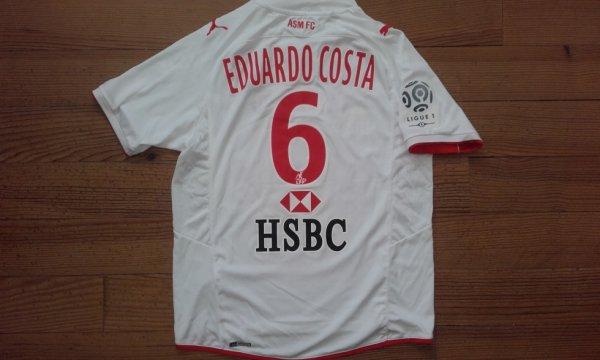 Maillot third saison 2009-2010 floqué EDUARDO COSTA (de dos)