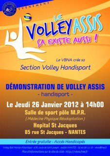 Démonstration de volley assis (Handisport)