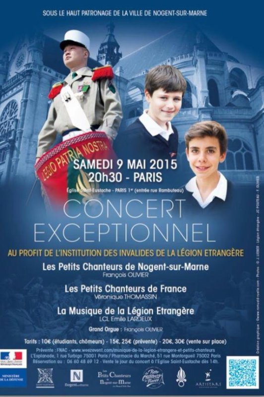 Prochain concert avril/mai 2015