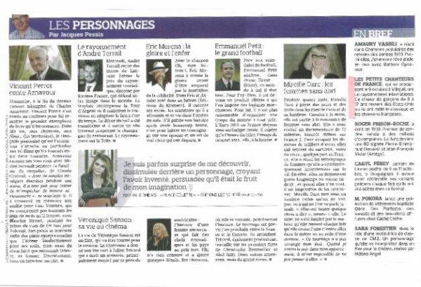 Merci à Jacques Pessis pour son article dans le Figaro de samedi dernier