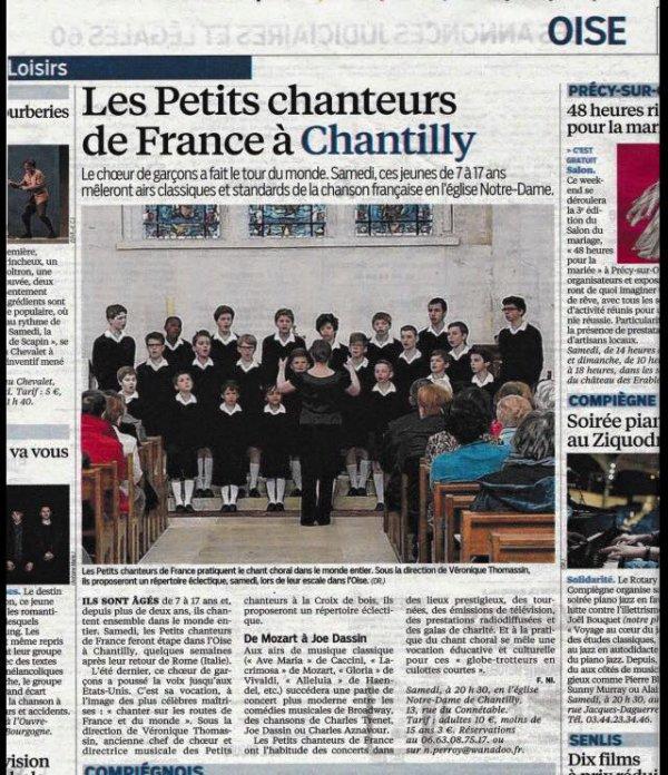 Les Petits Chanteurs de France à Chantilly