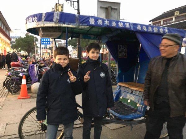 Nous sommes très bien arrivés en CHINE